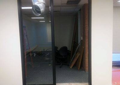 New door and window to Fabian's office