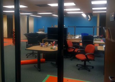 View of the space from within the conference room